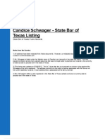 State Bar of Texas Listing for Candice Schwager