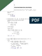 20 Soal dan jawaban untuk Matriks