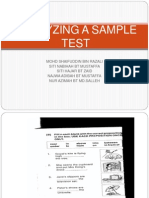 ALAYZING SAMPLE TEST