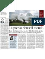 CLAUDIO MAGRIS Su Jorie Graham - Corriere Della Sera 20.01.2013