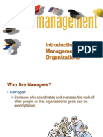 Introduction to management and organizations