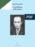 il problema dell'autore . M.Bachtin