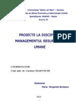 proiect la managementul resurselor umane