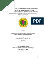PENERAPAN MODEL KOOPERATIF DENGAN STRATEGI MEMBERI PERTANYAAN DAN MENERIMA JAWABAN UNTUK MENINGKATKAN HASIL BELAJAR MATERI FAKTORISASI BENTUK ALJABAR PADA SISWA KELAS VIII-D SMPN 19 MATARAM TAHUN PELAJARAN 2012/2013