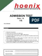 XI admission test