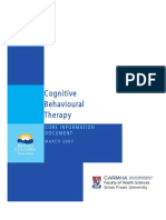Cognitive Behavioural Therapy (Core Information Document)