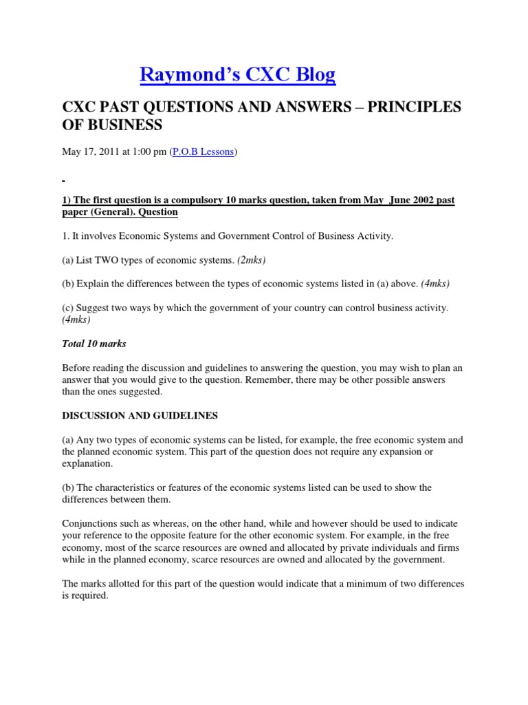 principles of business past papers docx | Current Account | Companies