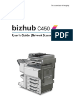 bizhub c450 Network Scan Operations