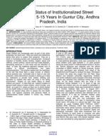 Oral Health Status of Institutionalized Street Children Aged 5 15 Years in Guntur City, Andhra Pradesh, India