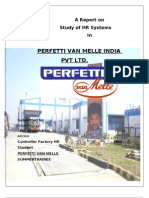 HR system at Perfetti