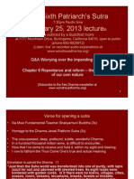 Sixth Patriarch's Sutra January 25, 2013 lecture