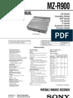 sony MZ-R900 service manual