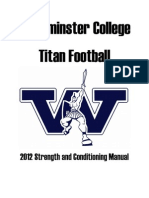 Westminster College Strength & Conditioning Manual