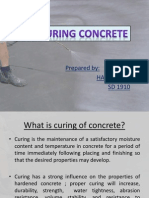 Self Curing Concrete
