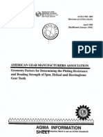 Geometry Factors for Calculation of Gear Teeth