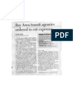 Bay Area Transit Agencies Ordered to Cut Expenses