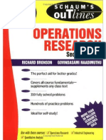 Schaum's Operations Research