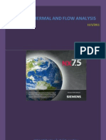Unigraphics NX7.5 - Thermal and Flow Analysis
