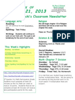 January 21 Newsletter