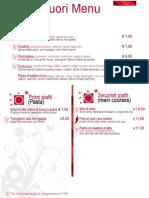 Fuori Menu Pizza Leggera San Benedetto del Tronto