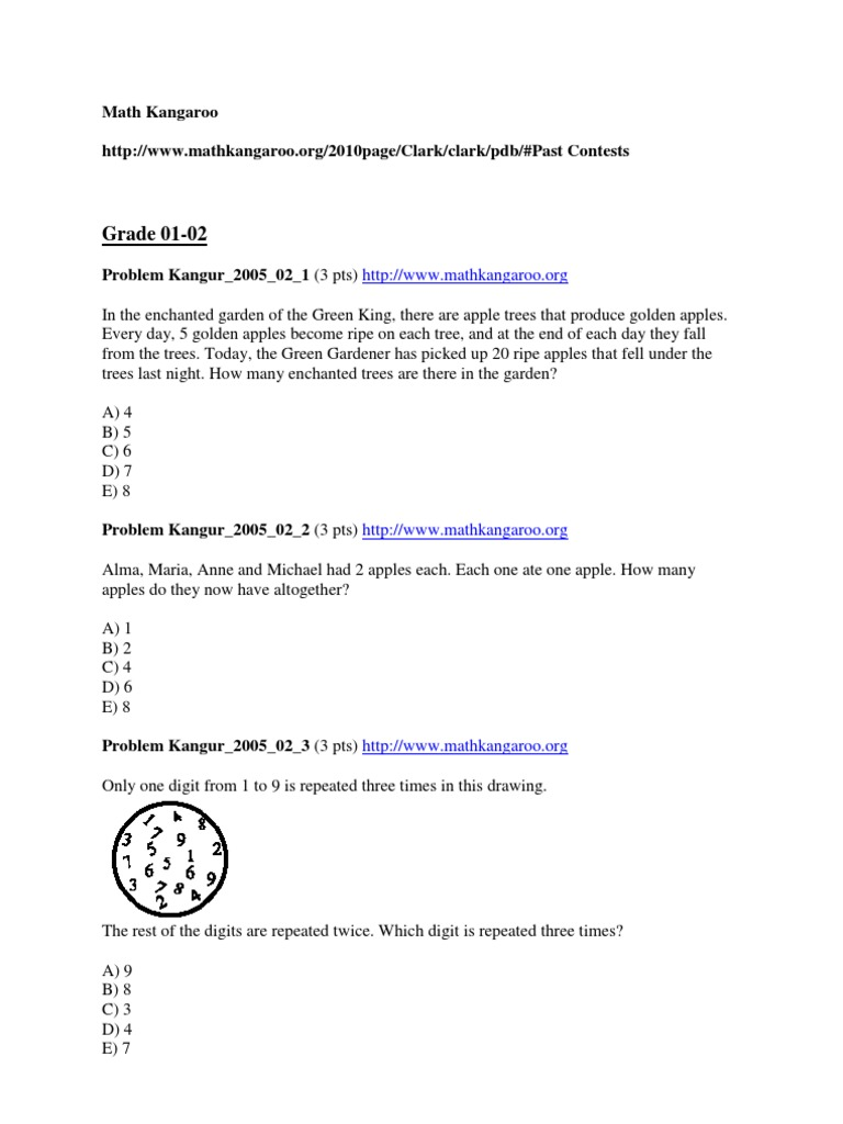 Math kangaroo practice problems grades 1 8 fandeluxe Choice Image