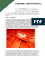 Risk versus Portfolio Management