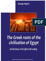 The Greek (Hellenic) roots of the civilization of Egypt and the theory of the right to left reading