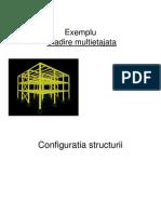 exemplu de structura multietajata in SAP 3d