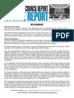 Update Report 19 September 2007_Myanmar