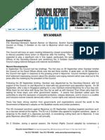 UNSC Report No. 1- 4 Oct 2007
