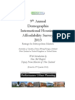9th Annual Demographia International Housing Affordability Survey (2013)