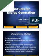 Bio Fuel Generation