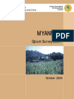 UN Report- Myanmar Opium Survey - Oct 2004