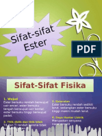 Sifat-Sifat Ester Devi