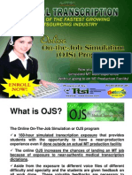 Online On-the-Job Simulation (OJS) for medical transcription training