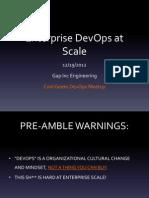 Enterprise DevOps at Scale