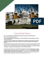Cap and Trade Report