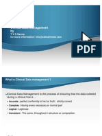 Clinical Data Management(Presentation by Sarma)