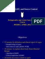 Sepsis, EGDT, And Source Control APRIL 2012(Dr.sudarsa)