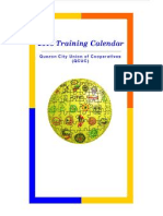 Quezon City Union of Cooperatives ( QCUC) 2012 Training Calendar