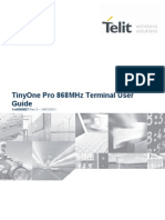 Telit TinyOnePro 868MHz Terminal User Guide r3
