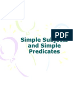 simple subjects and simple predicates this