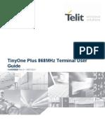 Telit TinyOnePlus 868MHz Terminal User Guide r3