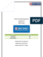Startegic mgmt. of HDFC Bank