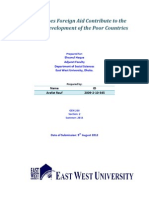 How Far Does Foreign Aid Contribute to the Economic Development of the Poor Countries