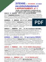 Appuntamenti Gare 2013