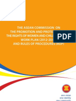 The ASEAN Commission on the Promotion and Protection of the Rights of Women and Children (ACWC) Work Plan 2012-2016 and Rules of Procedures (ROP)