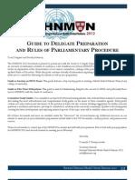 HNMUN Guide to Delegate Preparation