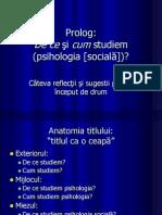 DE CE SI CUM STUDIEM PSIHOLOGIA SOCIALA