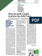Senatore Antonio d'Alì - confronto tassazione tares regioni